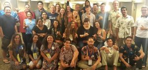 A group picture of the Young Democrats of Hawaii at the Democratic Convention in Honolulu 2016.