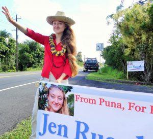 jen sign waving