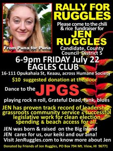the flyer for the event Rally for Ruggles
